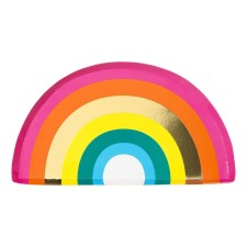 Pappteller 'Rainbow' von talking tables